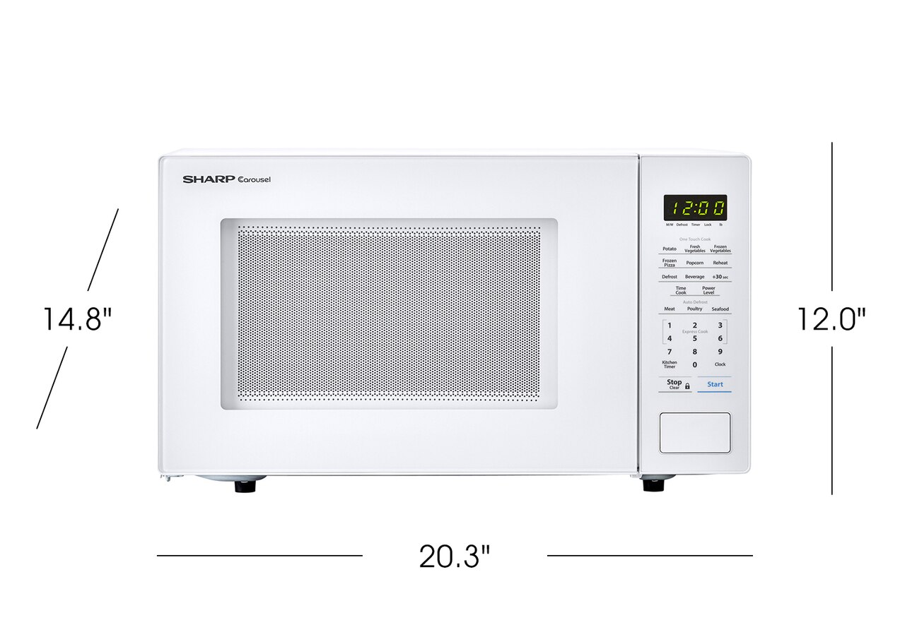 1.1 cu. ft. Sharp White Countertop Microwave (SMC1131CW) product dimensions