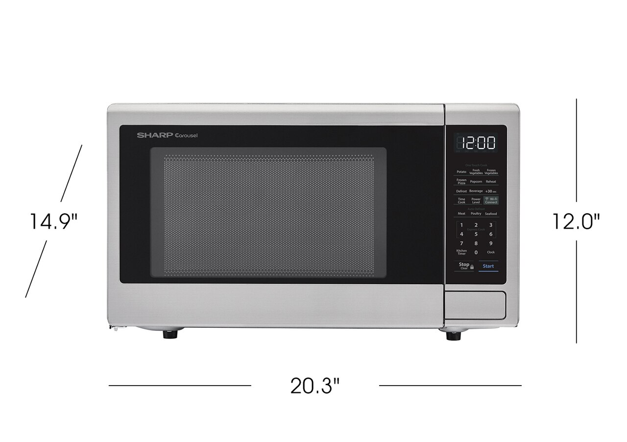1.1 cu. ft. Sharp Stainless Steel Smart Microwave (SMC1139FS) product dimensions