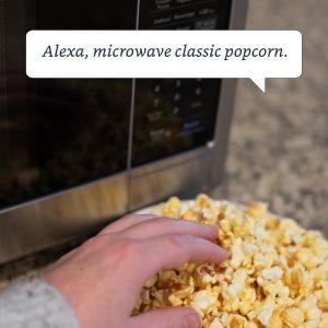 Alexa Microwave popcorn
