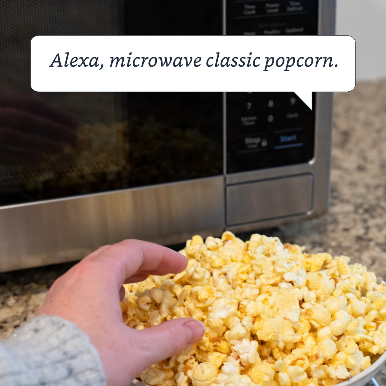 1.4 cu. ft. Sharp Stainless Steel Smart Microwave (SMC1449FS) – Alexa Microwave Popcorn Command