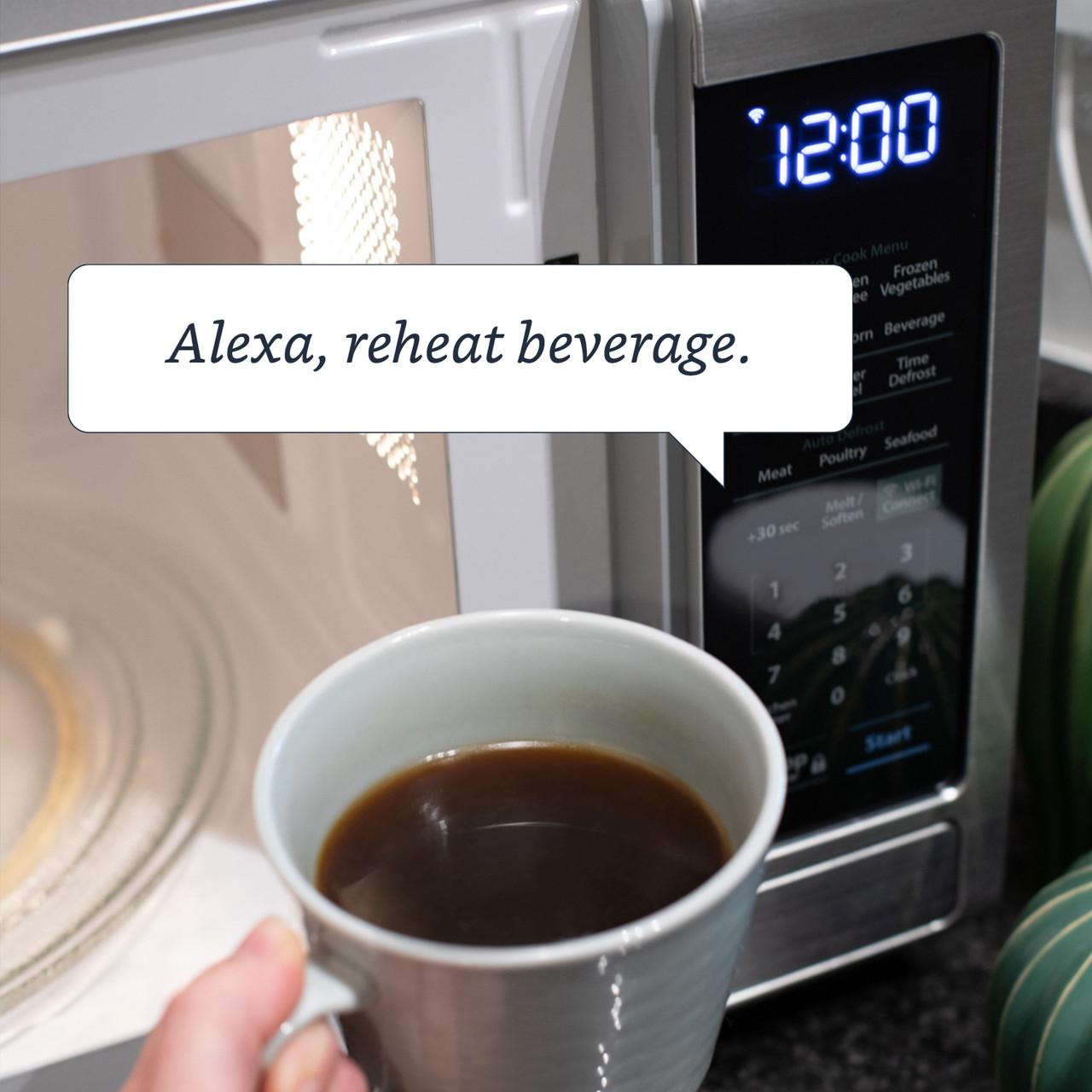 1.4 cu. ft. Sharp Stainless Steel Smart Microwave (SMC1449FS) – –Alexa Reheat Beverage Command