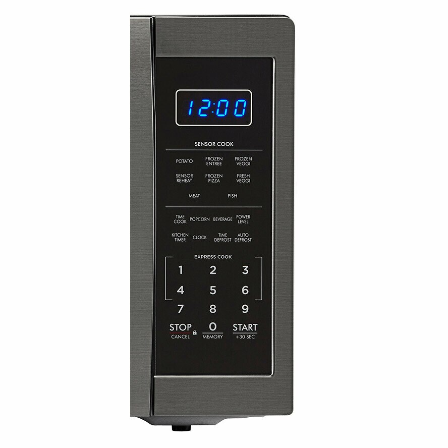1.4 cu. ft. Sharp Black Stainless Steel Microwave (SMC1452CH) – control panel
