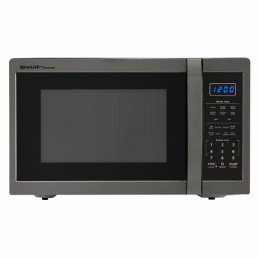 1.4 cu. ft. Sharp Black Stainless Steel Microwave (SMC1452CH)