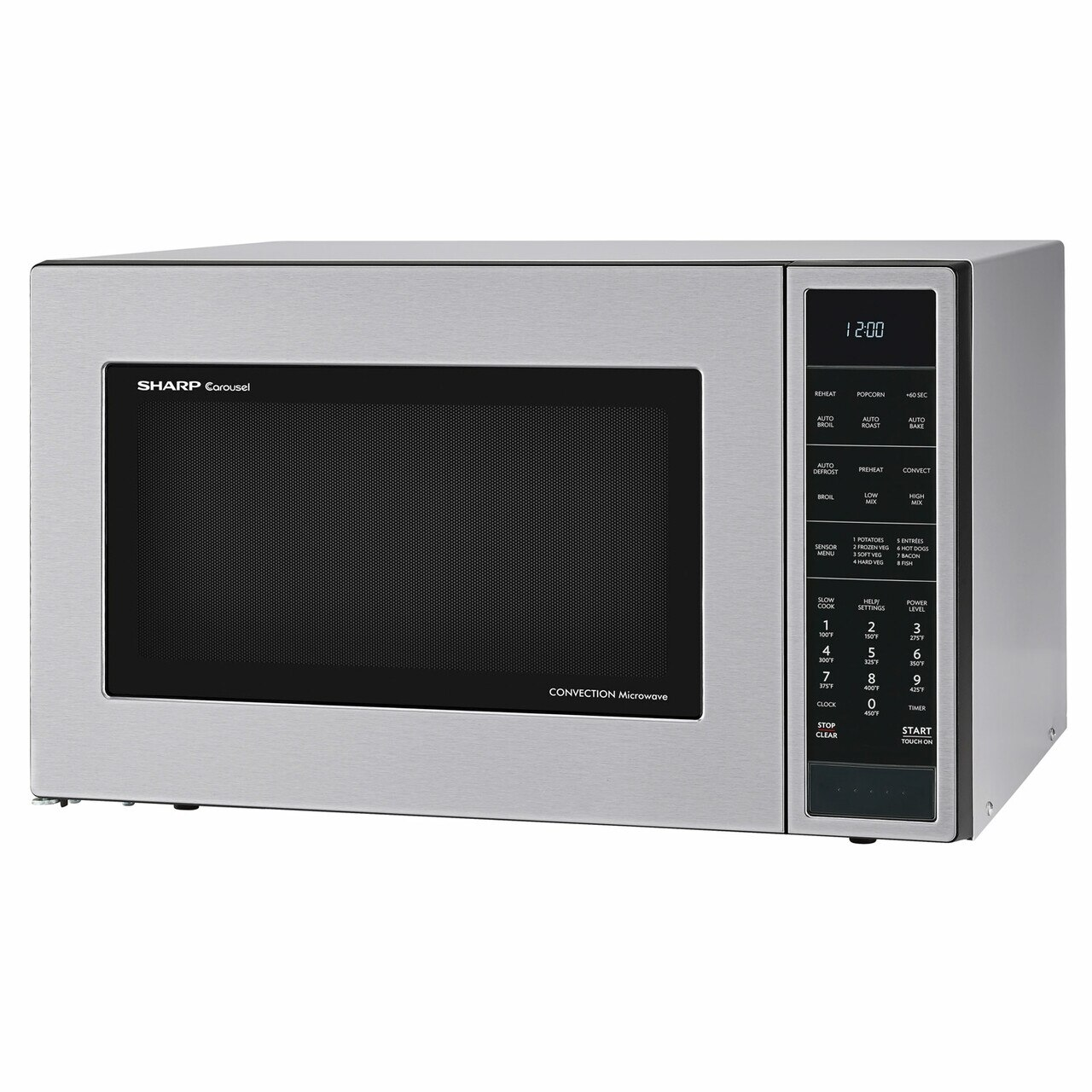 1.5 cu. ft. Sharp Stainless Steel Carousel Convection Microwave (SMC1585BS) – left angle view