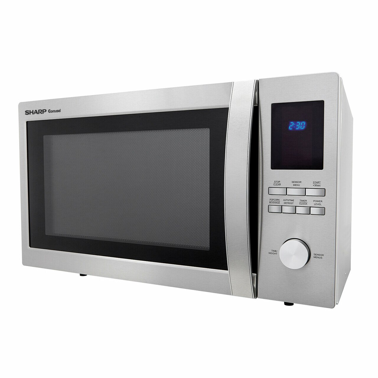 1.6 cu. ft. Sharp Stainless Steel Carousel Microwave (SMC1655BS) – left side view