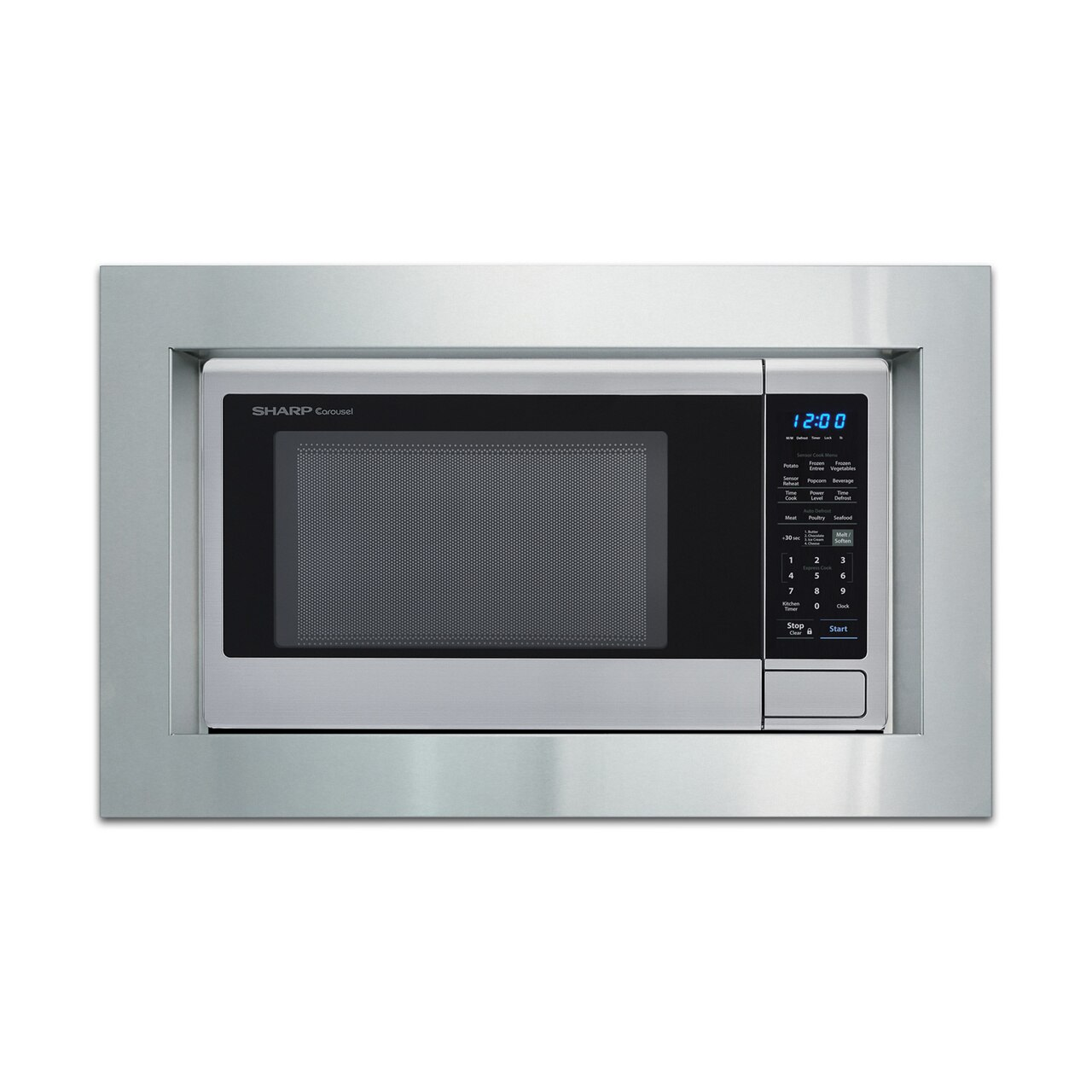 1.8 cu. ft. Sharp Stainless Steel Countertop Microwave (SMC1842CS) – with trim kit