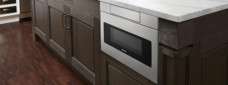 SHARP Microwave Drawer in kitchen island