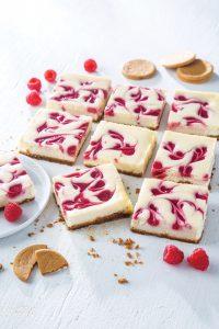 Raspberry Swirl Cheesecake Bars