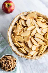 Gluten-Free apple pie being prepared