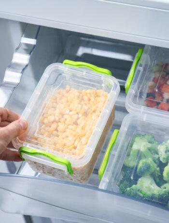 Bins in a refrigerator