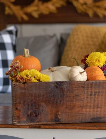 Fall decor living room