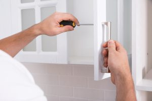 Replacing kitchen knobs