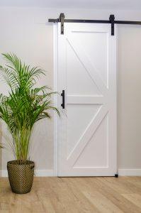 Sliding pantry door- closed