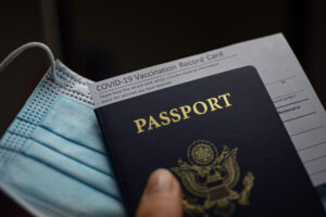 Passport and other important COVID-10 travel documents