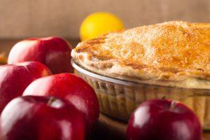 Apple pie with apples.
