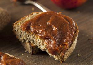 Apple butter on bread